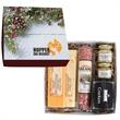 Deluxe Charcuterie Gourmet Meat & Cheese Set Chairman Gif... - Deluxe gift box with salami, cheese, crackers and assorted mustards