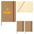 """5"""" X 7"""" Eco-Inspired Strap Notebook - 80 Page Lined 5"""" X 7"""" Eco-Inspired Strap Notebook with Paper Cover and Colored Strap and Bookmark."""
