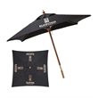 7 Foot Square Market Umbrella - 7 foot wood square market umbrella with heavy-duty 8 oz. polyester cover with wind vents; no valance.