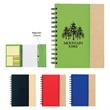 Spiral Notebook with Sticky Notes and Flags - Spiral notebook with sticky notes and flags.