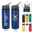 25 Oz. Tario Aluminum Bike Bottle - 25 oz. Tario aluminum bike bottle with a screw-on, spill-resistant sip-top lid and an easy carry handle.