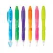 BLOSSOM PEN/HIGHLIGHTER - Plastic slide-action combination ballpoint pen and highlighter in assorted colors and shades.