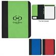 """Non-Woven Large Padfolio - Non woven large padfolio with 8 1/2"""" x 11"""" writing pad and elastic pen loop."""