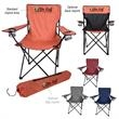 Heathered Folding Chair With Carrying Bag - Heathered folding chair for sitting comfortably at almost any outdoor event.