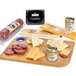 Charcuterie Favorites Board With Meat & Cheese Set - Meat and cheese set with cutting board, cheese knife, crackers and mustard