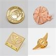 Diestruck Sandblasted Lapel Pins - Die struck sandblast copper/brass/metal lapel pin.