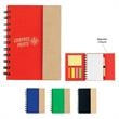Small Spiral Notebook With Sticky Notes And Flags - Small spiral notebook with sticky notes and flags.