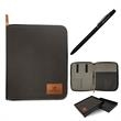 """Siena Tech Case With Pen - 10.61"""" x 8.82"""" slate gray organizer with twist-action pen, three cord holders, two elastic pen loops and five interior pockets."""