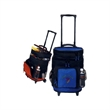"""Cooler - Wheel / pull handle ripstop cooler with foam padding, 13"""" W x 18"""" H x 10 1/2"""" D."""