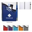 """5"""" x 7"""" Double Dip Spiral Notebook - 5"""" x 7"""" spiral 70-page lined notebook with a polyurethane cover featuring a pen loop and three pockets."""