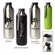 Hydrogen 20 - 20 Oz. Stainless Steel Water Bottle - 20 oz. water bottle made of stainless steel with dual opening and double-wall vacuum seal