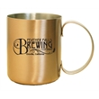 12 Oz Moscow mule mug, stainless steel with copper coating - 12 oz Moscow mule mug, stainless steel with copper coating