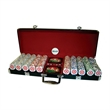 poker set - Poker set of 500 pieces black aluminum with red felt.