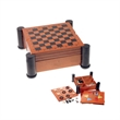 Executive Game Center with Checkers and Chess - Compact game center.