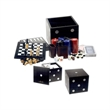 Chess and Other Games in Dice Box - Games and poker chips in dice box.