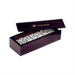 28-Piece Domino Set in Rosewood Box - Domino set, 28 pieces, in rosewood color box.