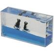 Liquid Mini Wave Penguin Paperweight