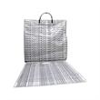 Shopping Bag - White plastic 1.5 mil shopping bag with drawstring handle.