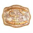 Gold And Silver Buckle - Gold and silver plated belt buckle on solid brass.