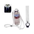 Silk Screen Polyester Lanyard Water Bottle Holder - Polyester lanyard with water bottle holder