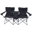 Double Chair - Direct Import Folding Double Chair with Center Table and Cooler.