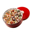 Christmas Fortune Cookies Tin of 50 - Tin of 50 Classic Fortune Cookies decorated for Christmas - enough to share!