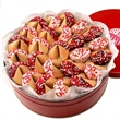 Love Fortune Cookies Tin of 50 - Tin of 50 Classic Fortune Cookies with Heart Sprinkles - Show the Love!