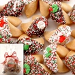 Christmas Goodie Bag of 25 Fortune Cookies - Christmas Goodie Bag of 25 Fortune Cookies in Milk Chocolate, White, Dark Chocolate, or Caramel/Toffee.