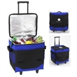 """Collapsible Leakproof Rolling Cooler- 60 Cans - 17"""" x 12.5"""" x 10.75"""" cooler made of 600 denier polycanvas with a 60 can capacity, handle and wheels"""