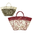 Tote bag - Tote bag with simulated leather detailing and simulated suede lining, inside pocket.