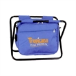 "Seat Cooler - 18 1/2"" x 10 1/2"" x 13 1/2"" 24-can cooler with shoulder strap that's also a folding seat with a steel frame"