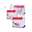 Beach tote bag - Patriotic beach tote bag with  stick tape closure.