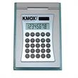 calculator - Closeout, aluminum desktop calculator with frosted base.