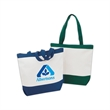 Tote Bag - Large 13 oz. beach zipper cotton canvas tote bag with gusset.