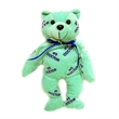 """8"""" green #1 doctor bear with ribbon"""
