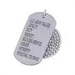Stainless steel dog tag - Deep etched stainless steel dog tag, 1mm (0.04) thickness.