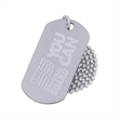 Stainless steel dog tag - Stainless steel laser engraved dog tag, 1mm (0.04) thickness.
