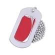 Aluminum dog tag - Printed aluminum dog tag, 1mm (0.04) thickness.