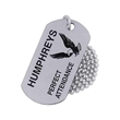 Stainless steel dog tag - Stainless steel printed dog tag, 1mm (0.04) thickness.