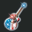 American guitar flashing pin - Blank or Imprinted. American guitar flashing pin.