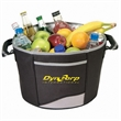 Cooler - Picnic tub cooler, 600 denier polyester with heavy vinyl backing.