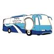 Jumbo size bus shape magnetic bottle opener