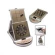 Game Set - Metal 4-in-1 game set of darts, chess, checkers and tic tac toe.