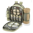 Picnic Backpack for Four with Blanket - Stylish fully equipped tweed picnic cooler backpack.