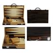 "Backgammon Set - Zebra wood 15"" backgammon set, crafted from beautiful black zebra."