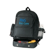 Backpack with cooler - Polyester backpack with cooler.
