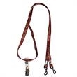 "Eyewear Lanyard - Eyewear lanyard, 3/8"" wide with vinyl bulldog and slider."