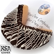 Florentine Giant Fortune Cookie - Giant fortune cookie with Florentine, white chocolate design.