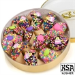 Fortune Cookies - Happy birthday, fortune cookies in round container.