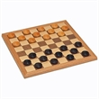 Wood Checkers Set - 12 inches - Wood checkers set.